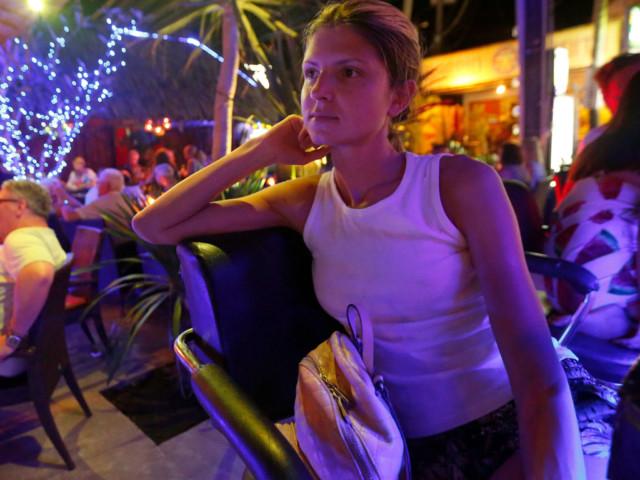 Gina Gerson enjoying night life