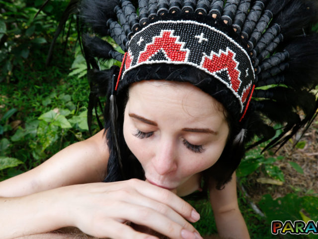 Deepthroat oral from Nude Forest Nymph
